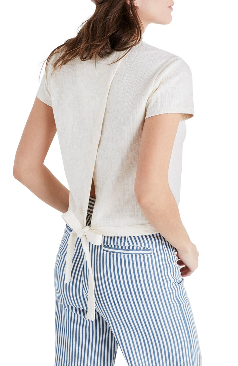 tie back top from madewell under $50 Nordstrom Anniversary sale