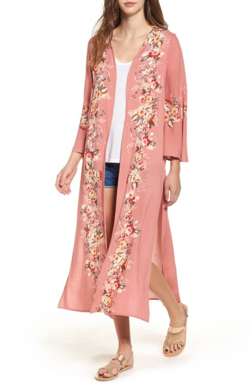 floral summer to fall kimonos