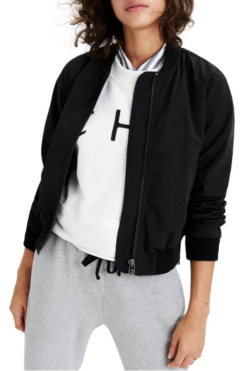 black bomber jacket by made well