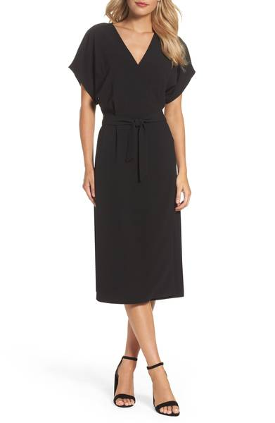 black wrap dress for summer
