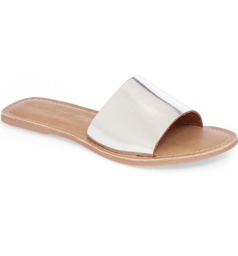 cabanda silver slide sandals for summer