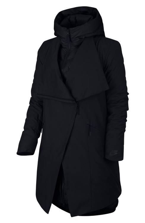 cozy black winter jacket