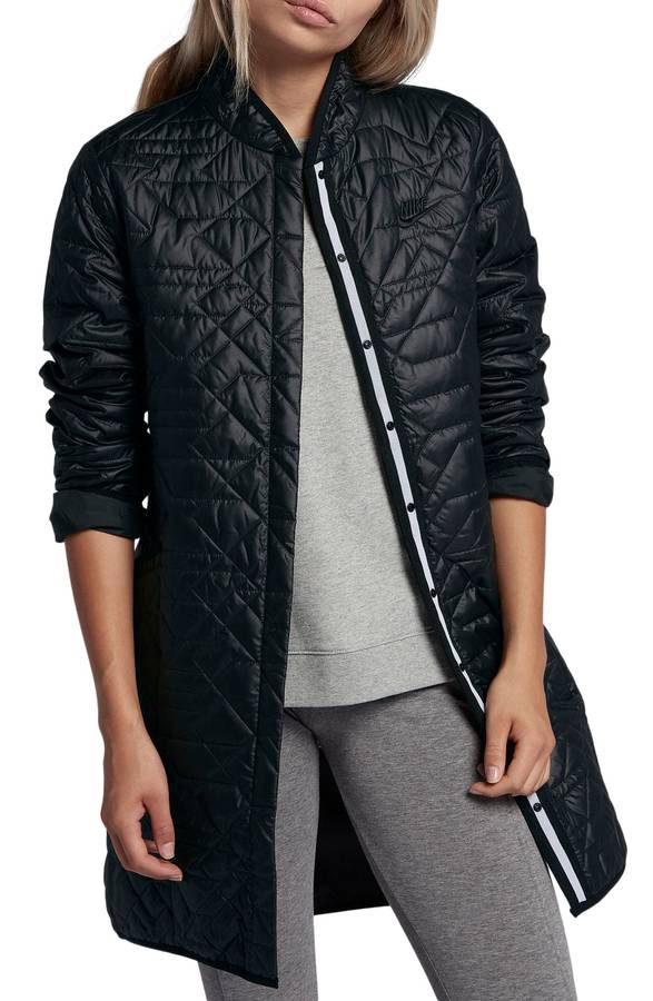 Black Quilted Winter Coat