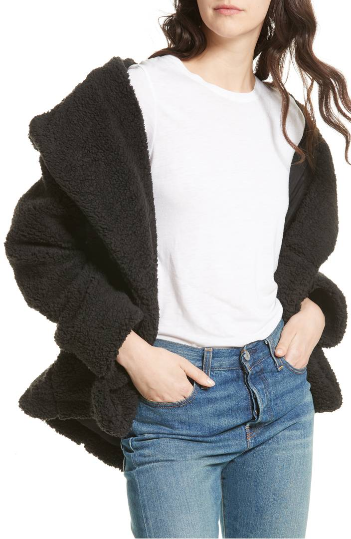 soft and cozy black winter jacket