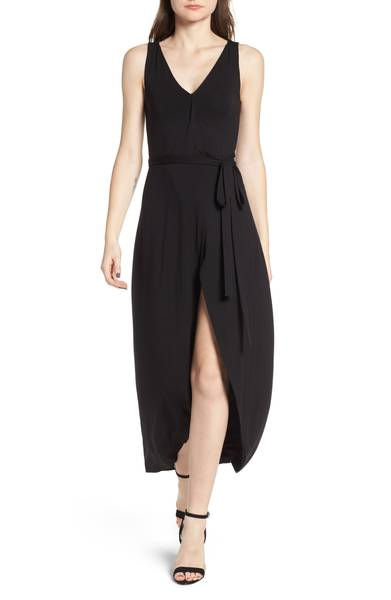 black midi maxi dress for summer
