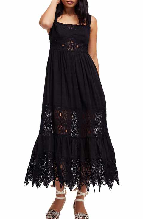 black lace maxi dress for summer