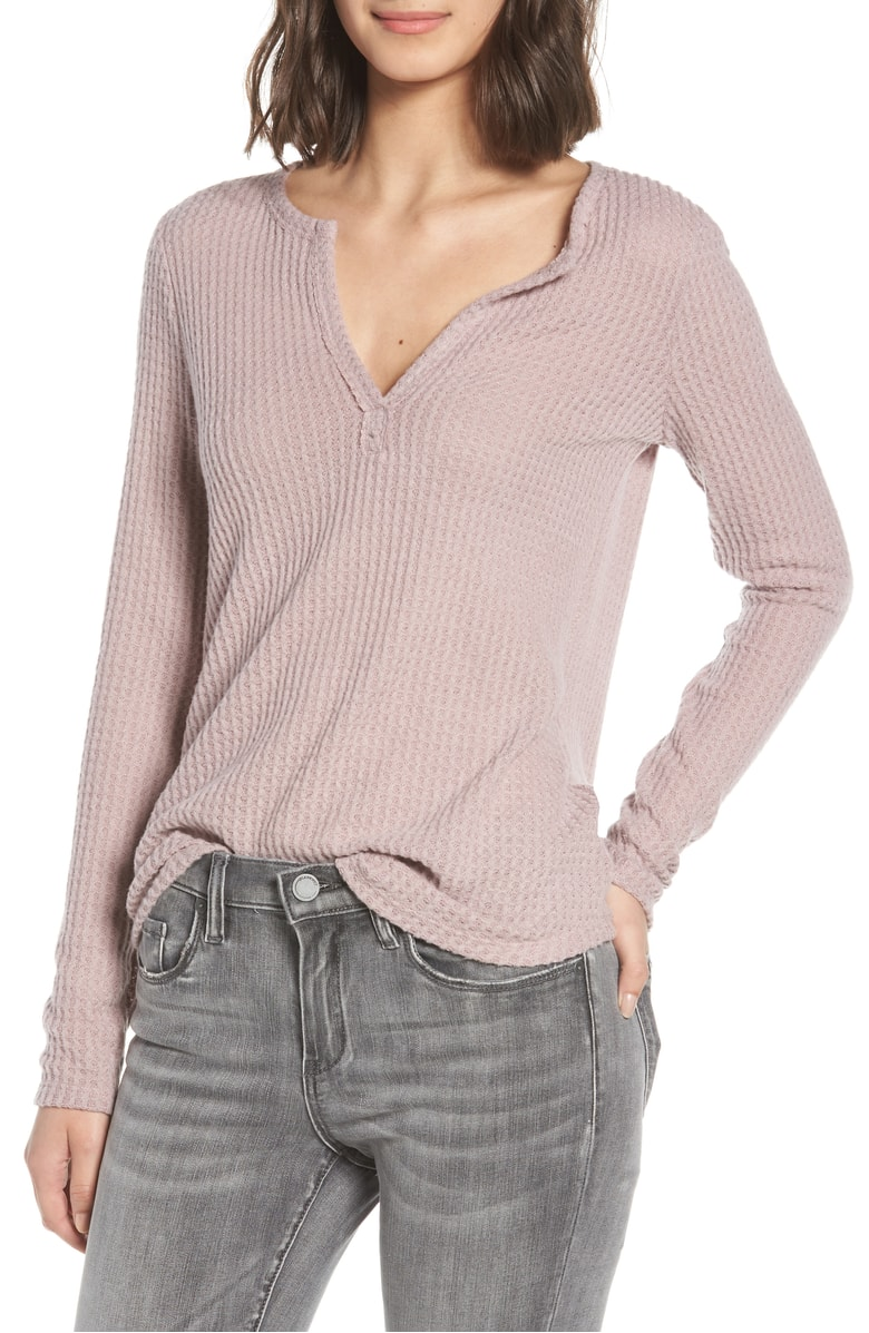 Nordstrom Thermal Henley Top