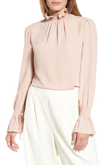 Vince Camuto Smock turtleneck blouse at Nordstrom Anniversary 2018 Catalog