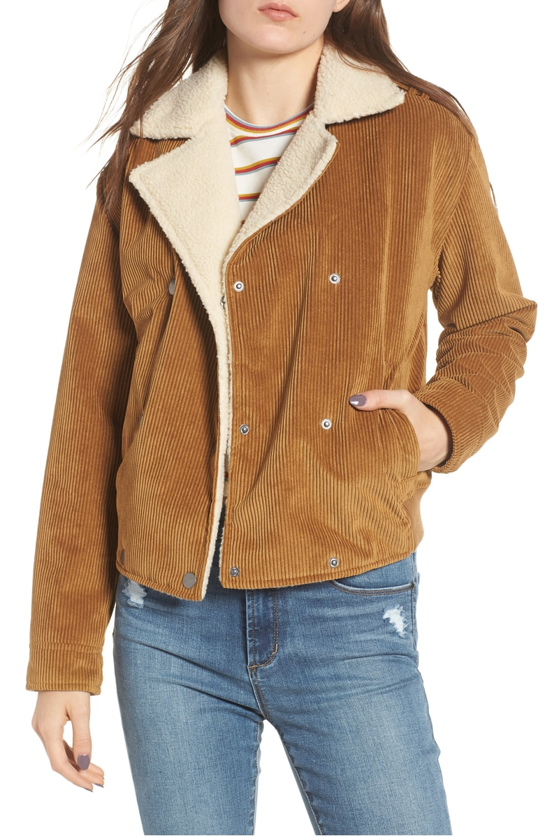 Tan Curdoroy jacket under $50 Nordstrom annivesrasry sale