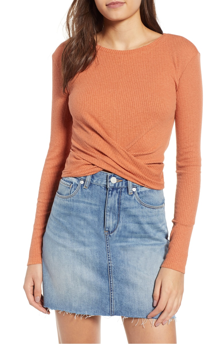orange tie front top Nordstrom Anniversary sale