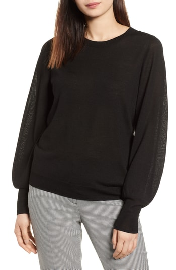 Haolgen Mereno Puff sleeve sweater at Nordstrom Anniversary 2018 Catalog