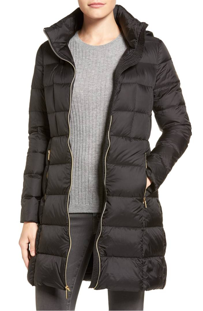 Black puffy winter coat under $70