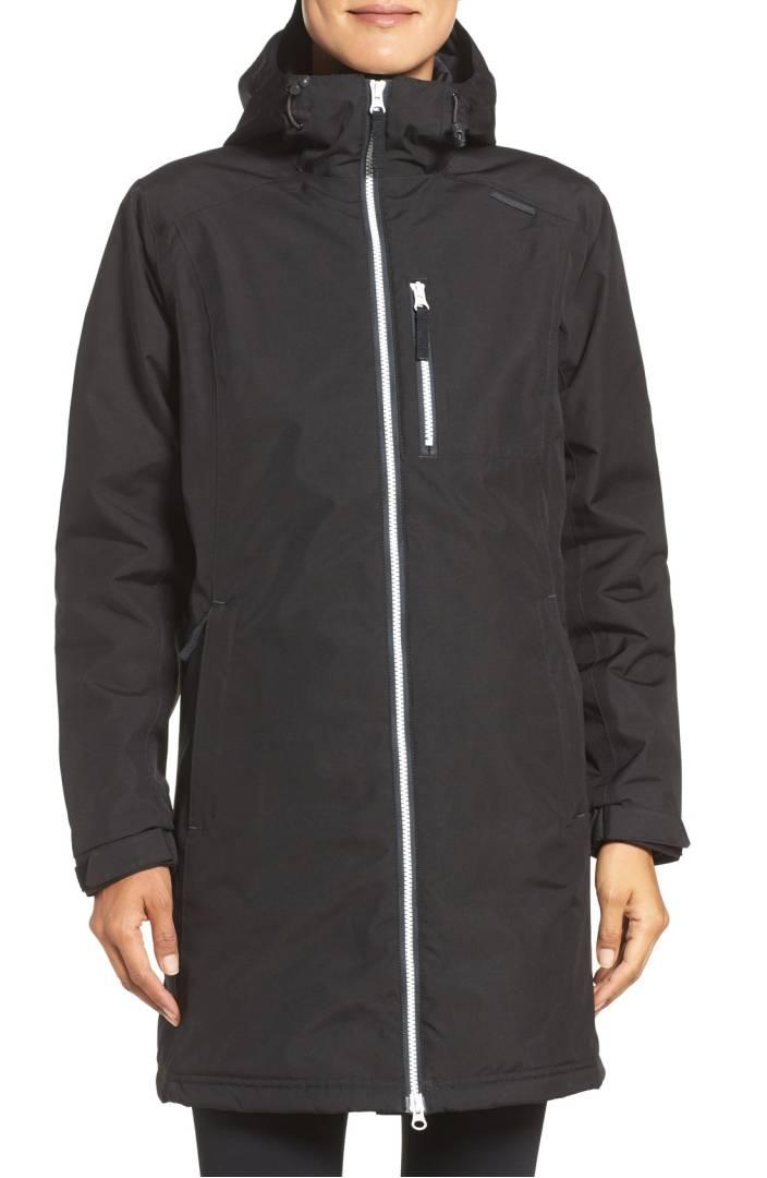 black waterproof womens coat
