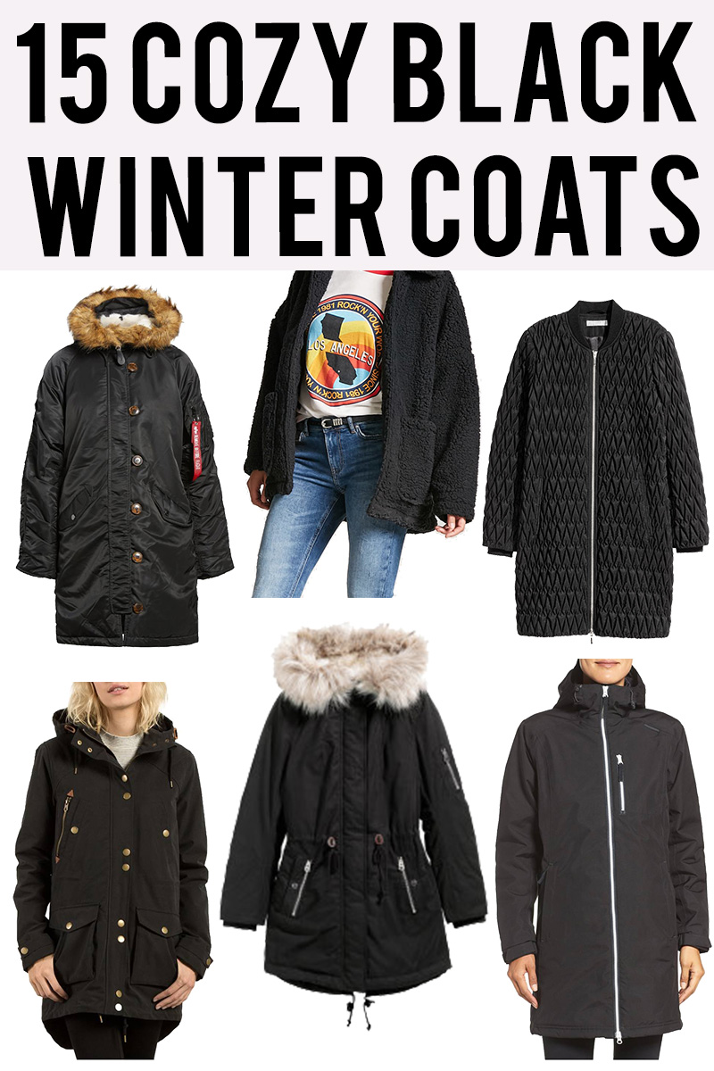 15 cozy black winter jackets and coats