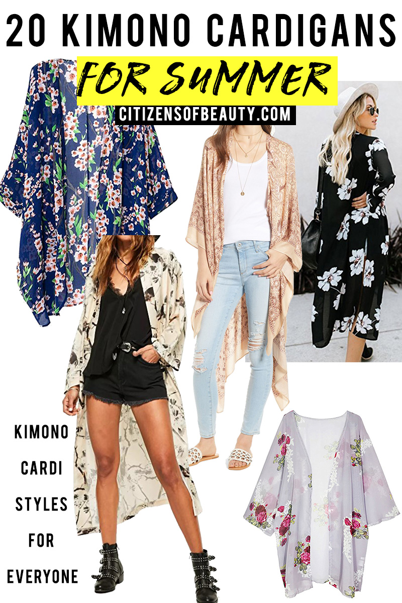 20 kimono cardigan styles for summer for everyone