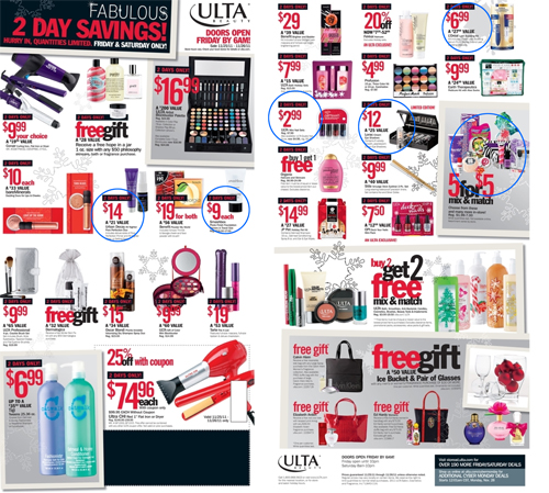 blackfriday ad 2011 ulta 153 Black Friday and Cyber Monday  Beauty Edition