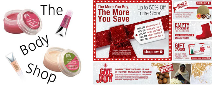 TheBodyShopDeal Thebodyshop.com: 5 Beauty Items for $11.25 and FREE Shipping