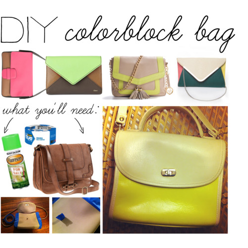 Diy colorblock bag citizens of beauty so please please go check out her blog as she has some awesome do it yourself fashion ideas and style tips alright here we are solutioingenieria Gallery