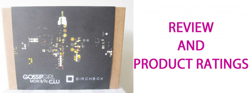 Birchbox Review May 1024x381 Review  Birchbox May Glamour Girl Edition