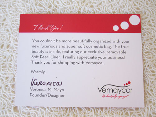 Vermeyca Bag Review 6 Review: Vemayca Washable Cosmetic Bag