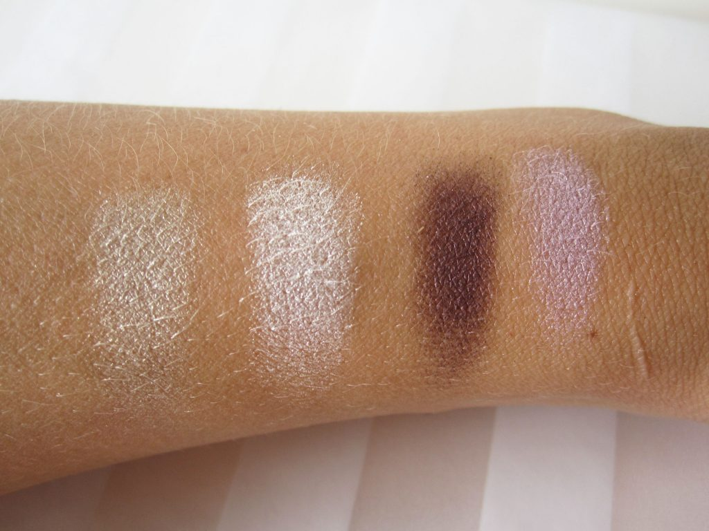 Korres Eyeshadow swatch1 1024x768 Review: Korres Eyeshadow Quads In Natural And Cool Collection