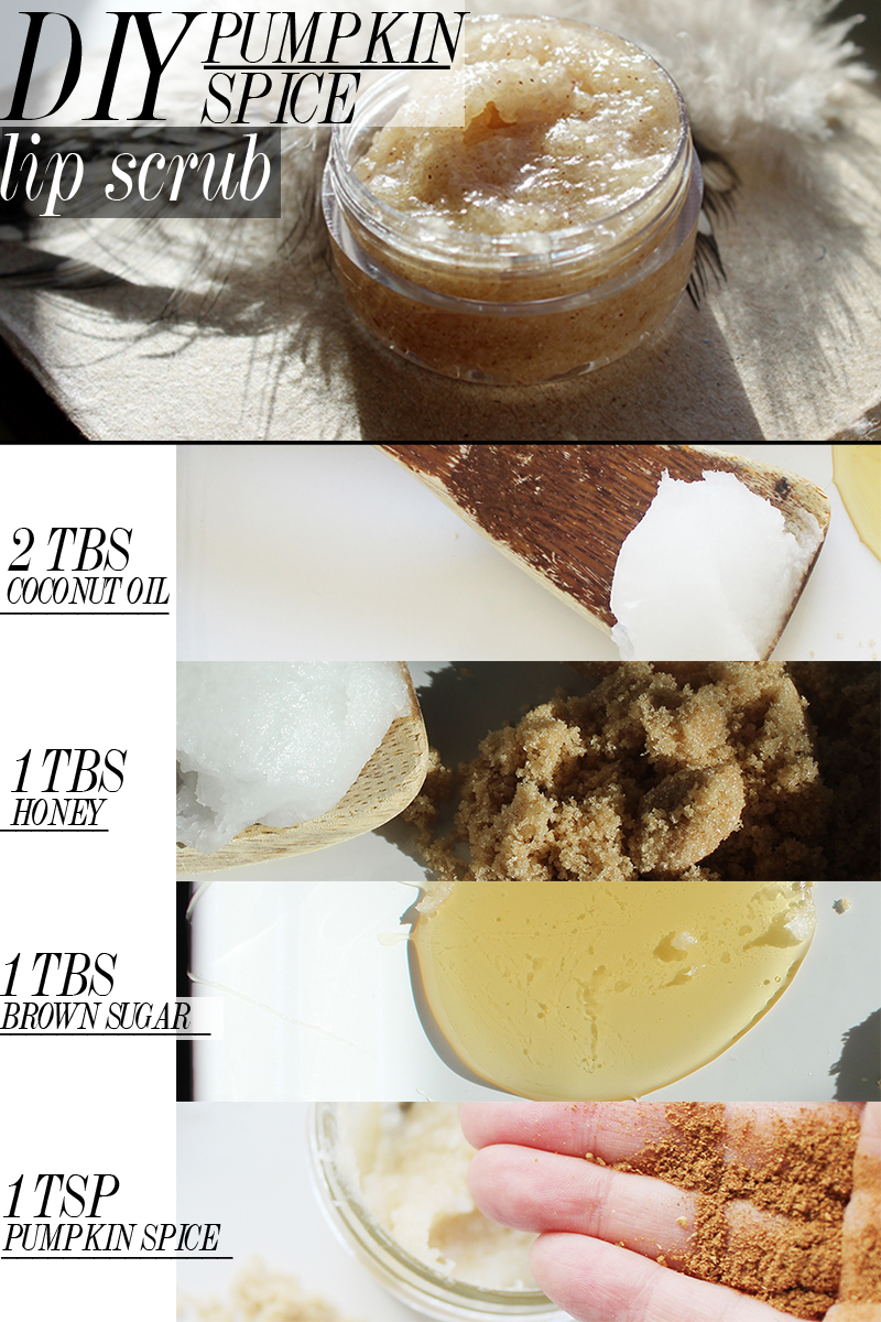 diy pumpkin spice lip scrub recipe that fast and easy to make plus is a great homemade gift
