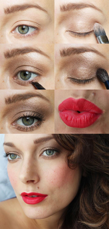 Holiday Eye Kandy Winter Wonderland: Bronze + Red- Holiday 2012 Makeup Look