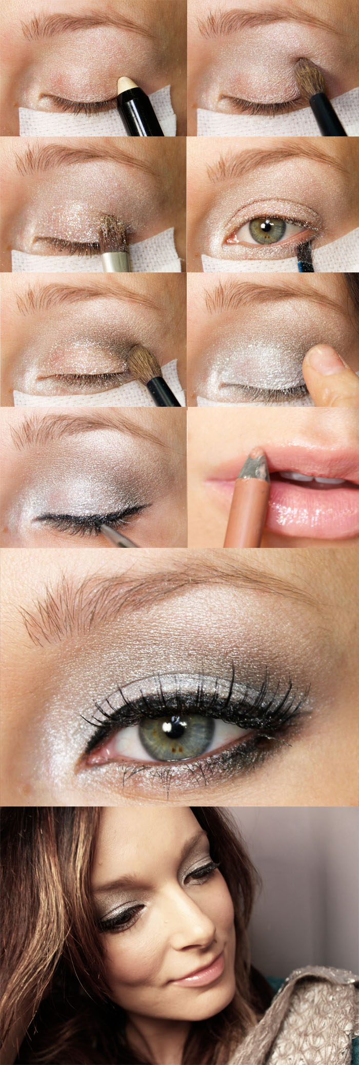 Get The Look And Feel Of Natural Wood For Your Front Door: Get The Look: Silver Bells Holiday 2012 Makeup Look