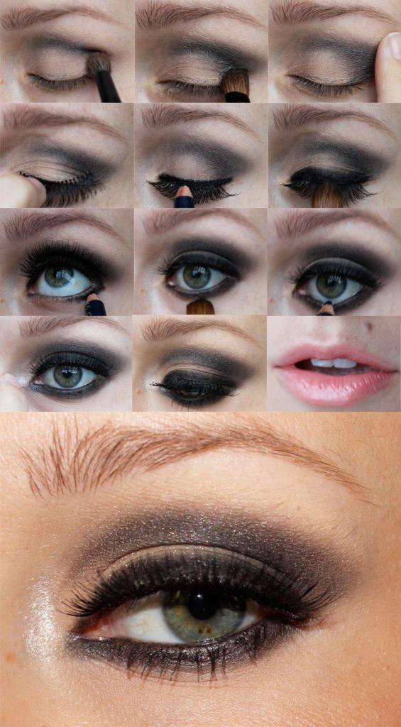 Steps for eye makeup