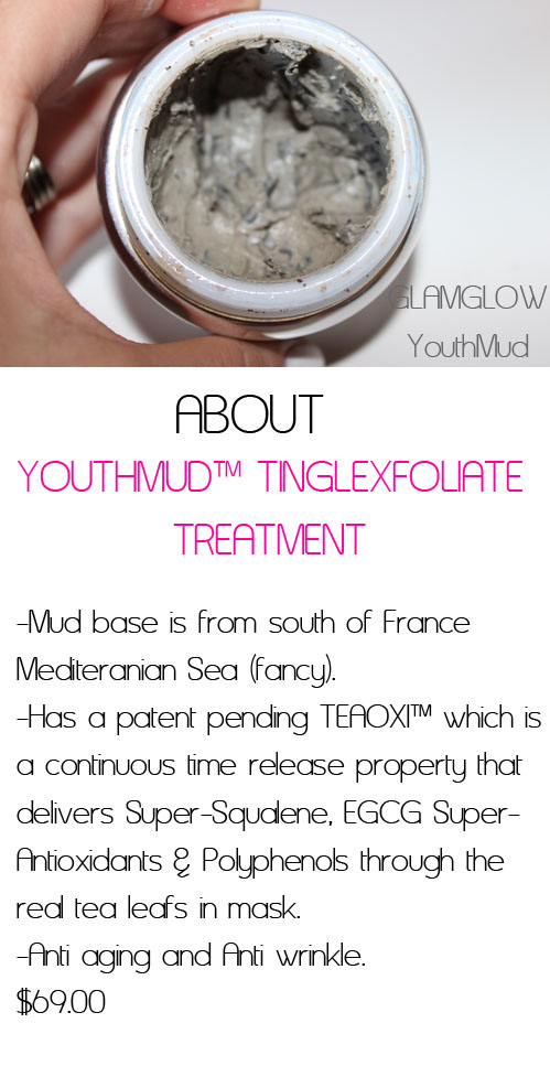 Best review of the GlamGlow and Youthmud mask for skincare.