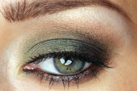 smoky-green-eye-makeup