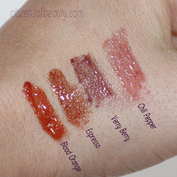 jane-iredale-chocoholicks lip gloss-swatches