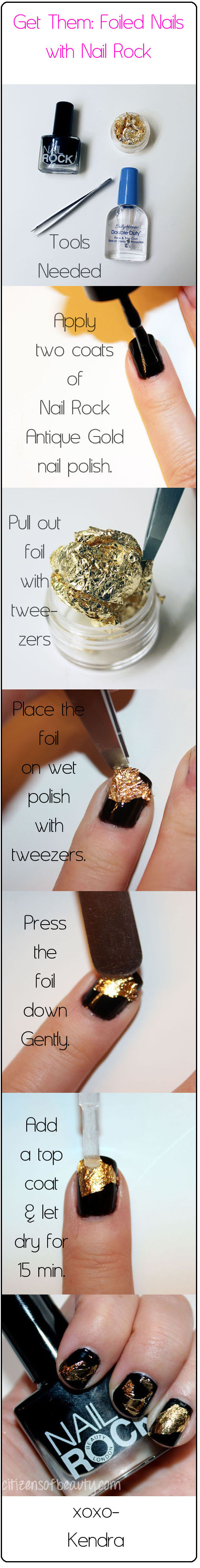 NAIL ROCK FOIL KIT TUTORIAL