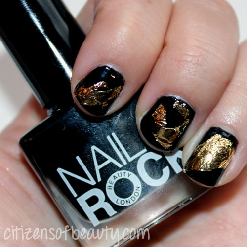 Review of Nail Rock Foil Kit in Antique Gold