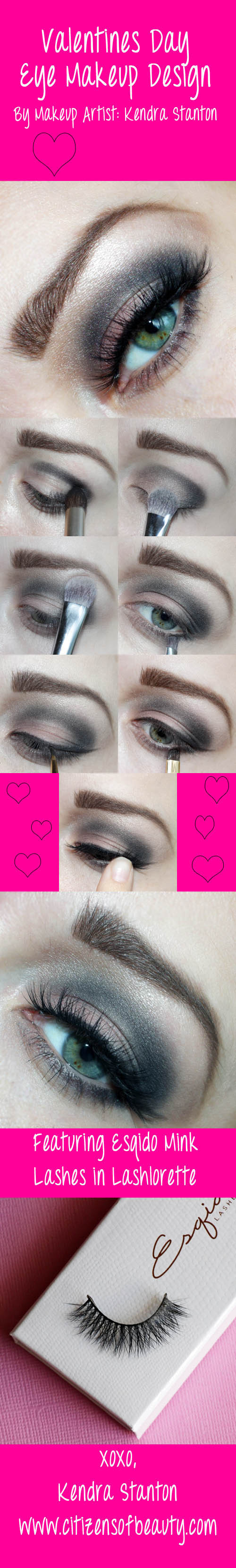 Valentines Day Eye Look 2: Featuring Esqido False Lashes