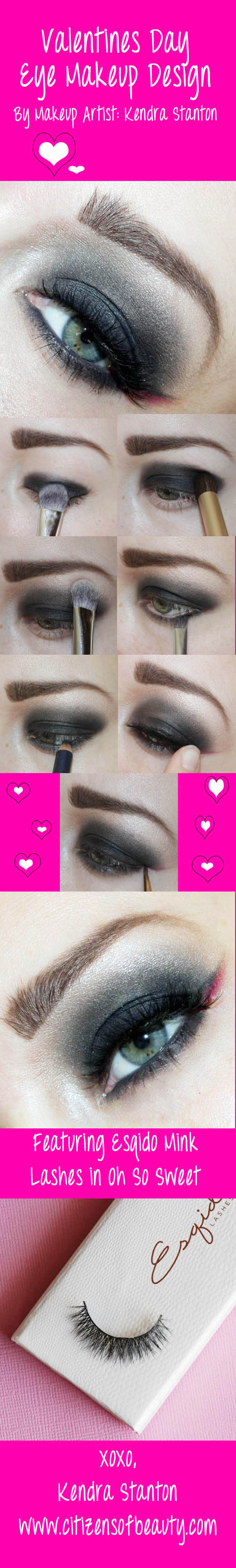 valentines day eye makeup