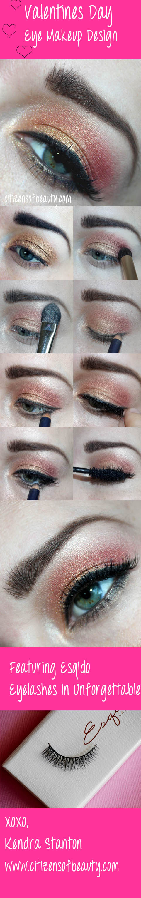 Valentines 2014 Eye Makeup Design