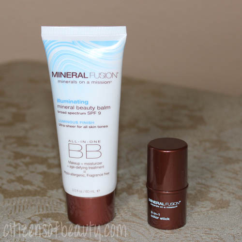 Mineral Fusion Illuminating BB Cream and 3-in-1 Color Stick Review