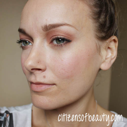 Makeup Look using Mineral Fusion BB cream and 3-in-1 color stick.