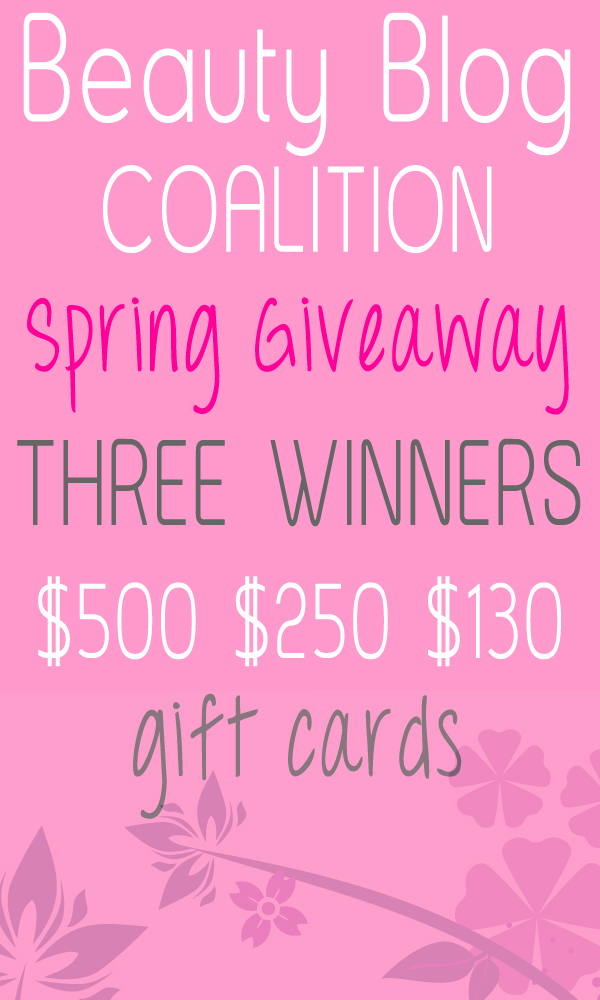 BEAUTY BLOG COALITION SPRING GIVEAWAY 1 Beauty Blog Coalition MASSIVE Spring Giveaway!