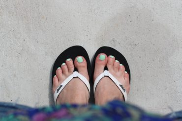 Reef sandals and nail polish color picks.