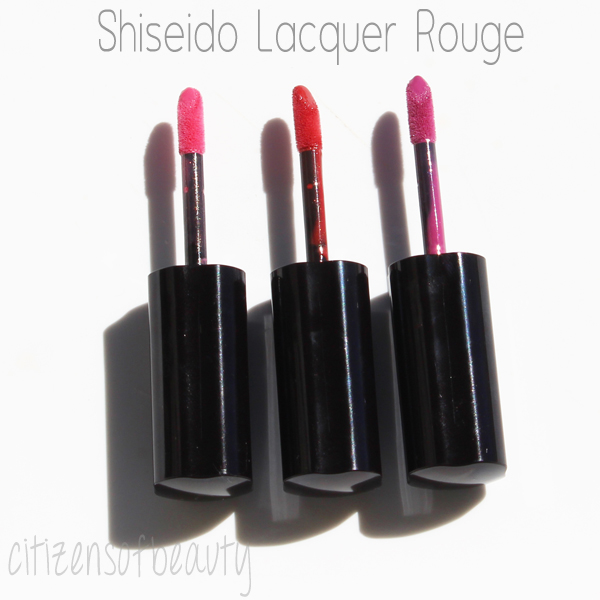 Shiseido Lacquer Rouge Review and Swatches