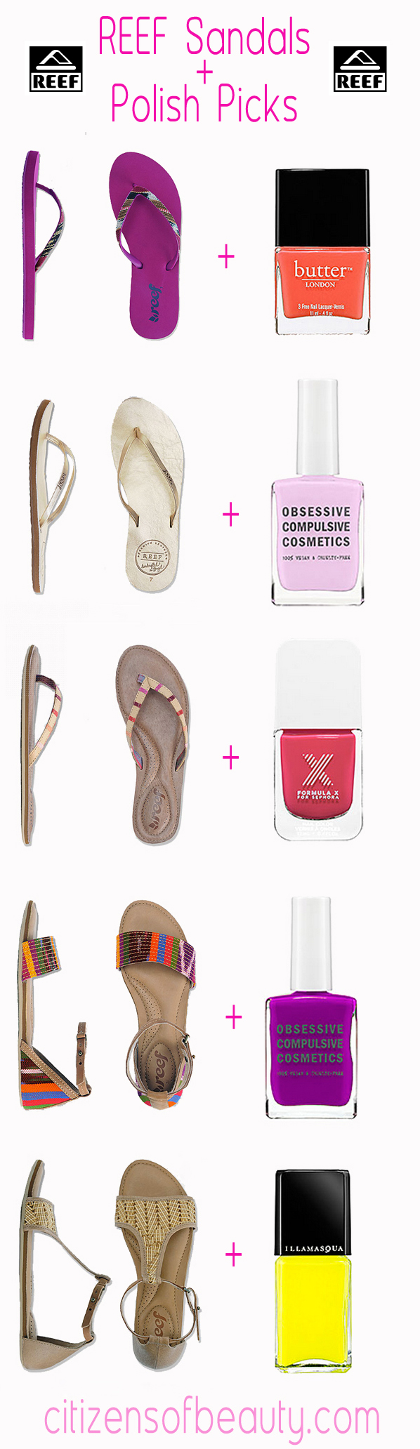 nail polish choices with sandals