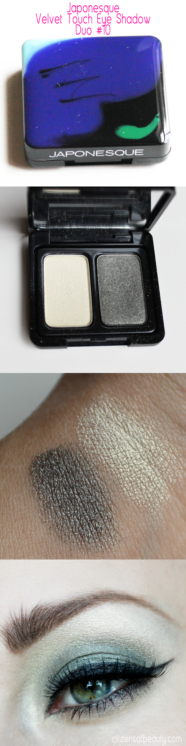 Japonesque Velvet Touch Eyeshadow Duo Review Japonesque Velvet Touch Eye Shadow and Makeup Brush Review