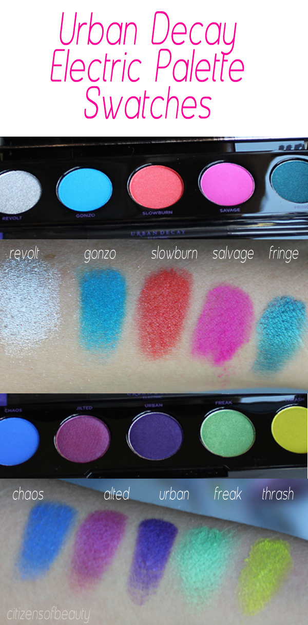 neon eyeshadows swatches