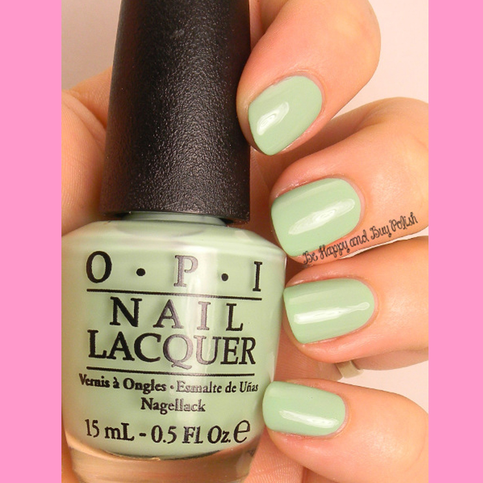 Mint Nail Art using OPI Feel the Moheatoes