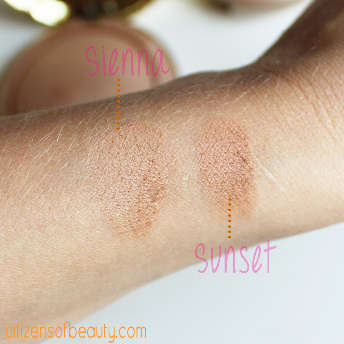 milani baked bronzer swatches and Review