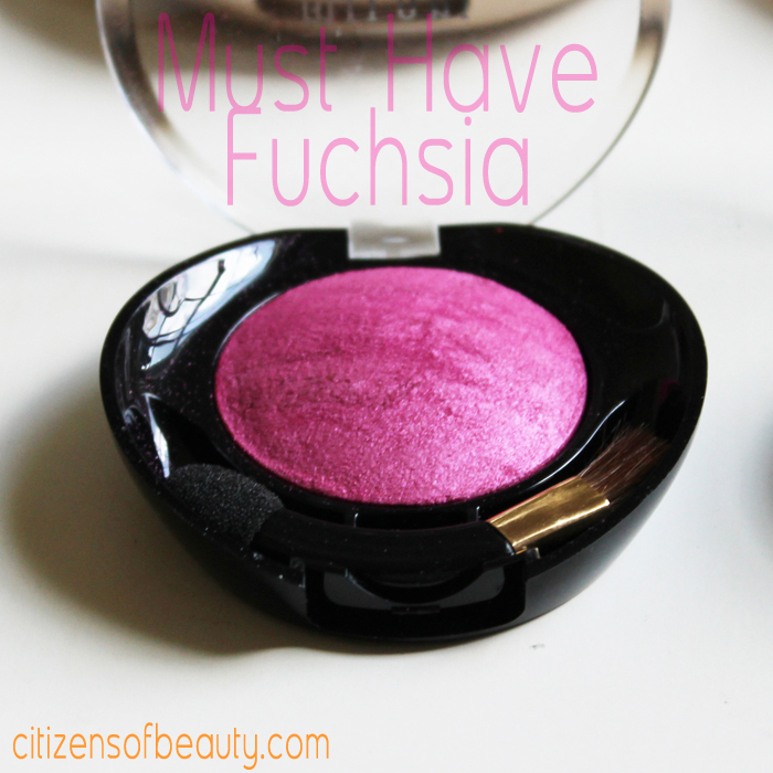 Milani Baked Eyeshadow Review: must have fuchsia