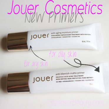 Jouer Cosmetics Face Primers Review