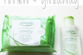 Simple Sensitive Skincare Review and giveaway